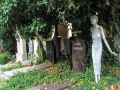 ... down the Višegrad cemetery pathways.